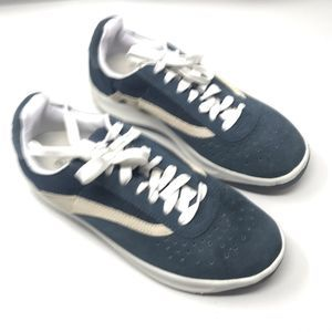 Cross Trekkers Leather Sneaker Blue White Colorway